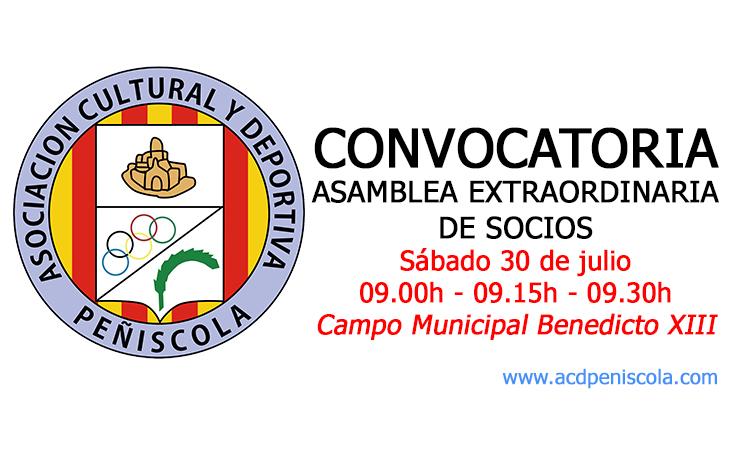 Convocatoria Asamblea de socios 30 de julio