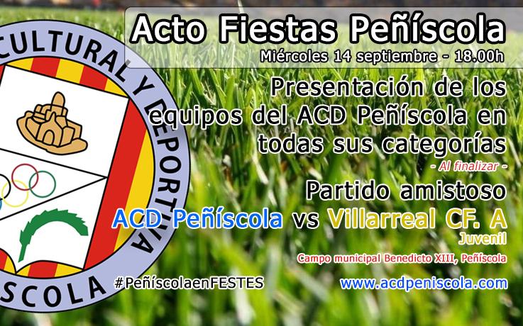 Presentación de los equipos del ACD Peñíscola en todas sus categorías