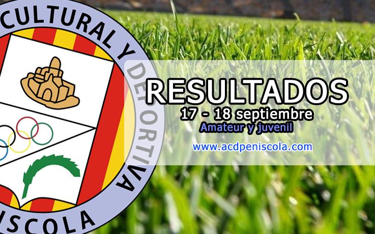 Resultados fin de semana 17-18 septiembre - ACD PEÑÍSCOLA