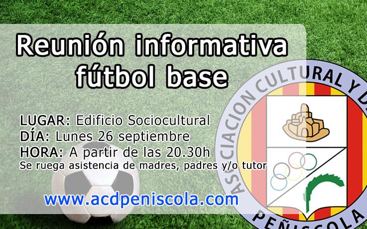 Reunión informativa fútbol base (26/09 20.30h)